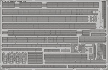 HMS Hood - Pt.3 Railings [Trumpeter] · EDU 53189 ·  Eduard · 1:200