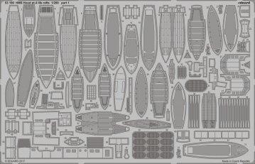 HMS Hood - Pt.4 Life rafts [Trumpeter] · EDU 53190 ·  Eduard · 1:200