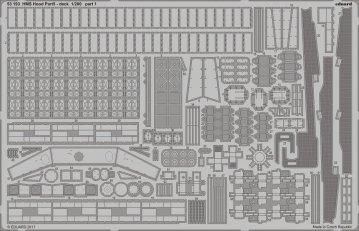 HMS Hood - Pt. 5 Deck [Trumpeter] · EDU 53193 ·  Eduard · 1:200