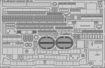 HMS Hood - Pt.6 Superstructure [Trumpeter] · EDU 53194 ·  Eduard · 1:200
