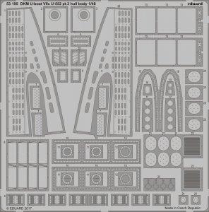 DKM U-Boot VIIc U-552 - Part 3 - Hull body [Trumpeter] · EDU 53195 ·  Eduard · 1:48