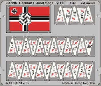 German U-boat flags [Trumpeter] · EDU 53196 ·  Eduard · 1:48