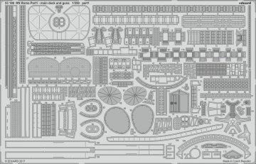 RN Roma - Part 1 - Main deck and guns [Trumpeter] · EDU 53199 ·  Eduard · 1:350