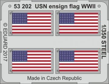 USN ensign flag WW2 STEEL · EDU 53202 ·  Eduard · 1:350