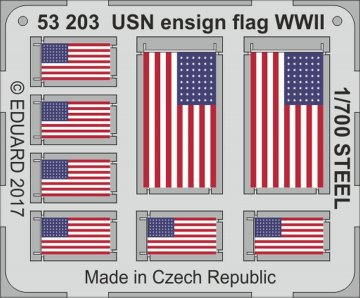 USN ensign flag WW2 STEEL · EDU 53203 ·  Eduard · 1:700