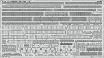 DKM Graf Zeppelin - Part 2 - Railings [Trumpeter] · EDU 53205 ·  Eduard · 1:350