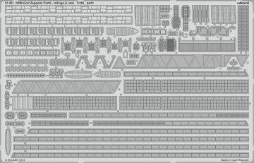 DKM Graf Zeppelin - Part 4 - Railings & nets [Trumpeter] · EDU 53207 ·  Eduard · 1:350