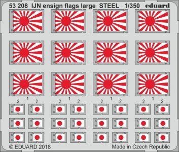 IJN ensign flags large STEEL · EDU 53208 ·  Eduard · 1:350