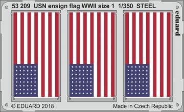 USN ensign flag WWII size 1 STEEL · EDU 53209 ·  Eduard · 1:350