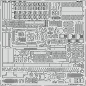 HMS Belfast [Trumpeter] · EDU 53210 ·  Eduard · 1:350