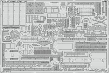 USS Saratoga CV-3 - Part 1 [Trumpeter] · EDU 53216 ·  Eduard · 1:350