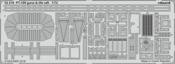 Patrol Torpedo Boat PT109 - Guns & life raft [Revell] · EDU 53219 ·  Eduard · 1:72