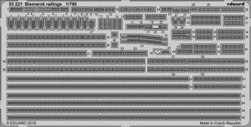 Bismarck - Railings [Meng Models] · EDU 53221 ·  Eduard · 1:700