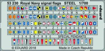 Royal Navy signal flags STEEL · EDU 53230 ·  Eduard · 1:700