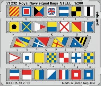 Royal Navy signal flags STEEL · EDU 53232 ·  Eduard · 1:700