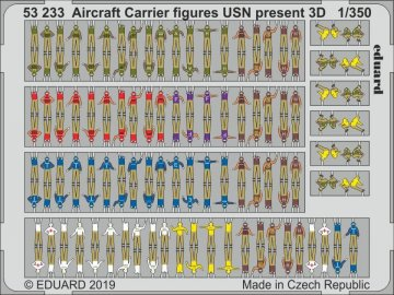 Aircraft Carrier figures USN present (3D) · EDU 53233 ·  Eduard · 1:350