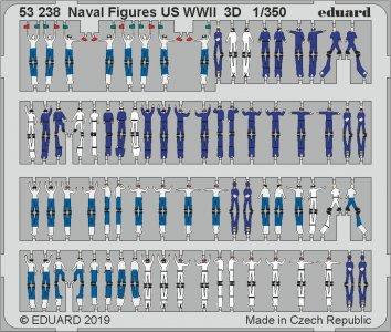 Naval Figures US WWII 3D · EDU 53238 ·  Eduard · 1:350