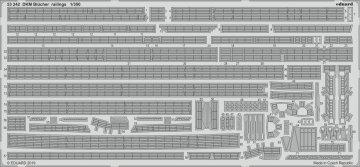 DKM Blücher railings [Trumpeter] · EDU 53242 ·  Eduard · 1:350