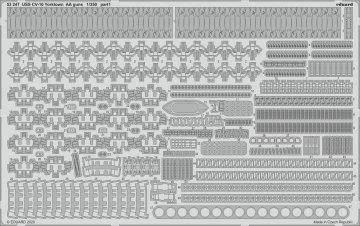 USS CV-10 Yorktown - AA guns [Trumpeter] · EDU 53247 ·  Eduard · 1:350