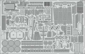USS CV-10 Yorktown - Island [Trumpeter] · EDU 53252 ·  Eduard · 1:350
