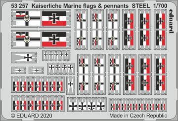 Kaiserlische Marine - Flags & pennants STEEL · EDU 53257 ·  Eduard · 1:700