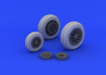 F-104 Starfighter - Undercarriage wheels late [Italeri] · EDU 632046 ·  Eduard · 1:32
