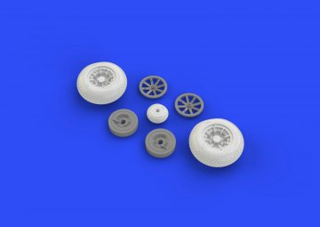 P-40 - Wheels w/pattern [Hasegawa] · EDU 632080 ·  Eduard · 1:32