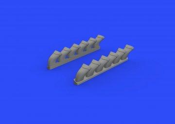 Spirfire Mk.IX - Exhaust stack-fishtail [Revell] · EDU 632108 ·  Eduard · 1:32