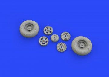 Spitfire Mk.IX - Wheels 5spoke w/smooth tire [Tamiya] · EDU 632127 ·  Eduard · 1:32