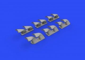 P-40 - Exhaust stacks fishtail [Hasegawa] · EDU 632139 ·  Eduard · 1:32