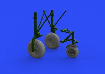 B-24 - Wheels (9spoke front wheel) [HobbyBoss] · EDU 632149 ·  Eduard · 1:32