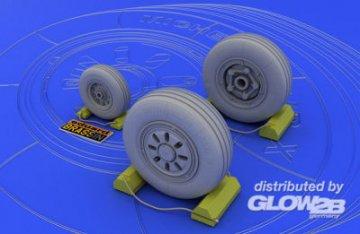 F-22A wheels (ACA) · EDU 648003 ·  Eduard · 1:48