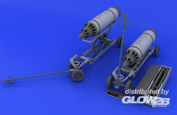 Rocket launcher B-8M1 and loading cart · EDU 648046 ·  Eduard · 1:48