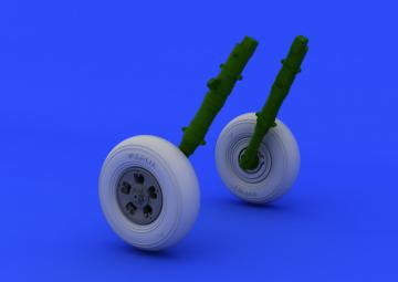 Spitfire - Wheels - 5 spoke [Eduard] · EDU 648119 ·  Eduard · 1:48