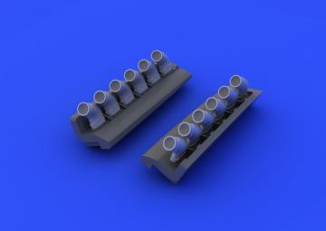 Spitfire - Exhaust stacks rounded [Eduard] · EDU 648121 ·  Eduard · 1:48