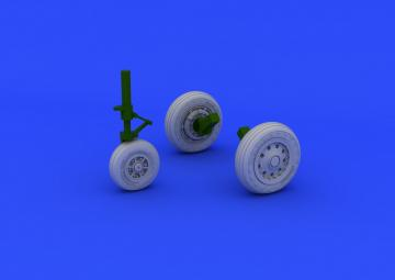 F-104 Starfighter  - Undercarriage wheels early[Hasegawa] · EDU 648176 ·  Eduard · 1:48