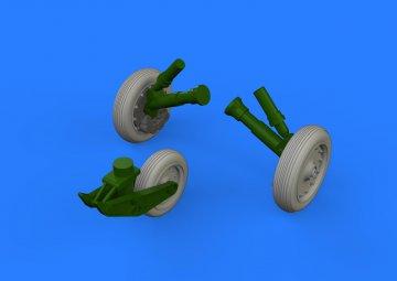F-8 Crusader - Wheels [Eduard/Hasegawa] · EDU 648387 ·  Eduard · 1:48