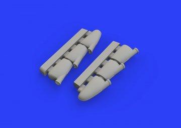 Spitfire Mk.I - Exhaust stacks [Tamiya] · EDU 648456 ·  Eduard · 1:48