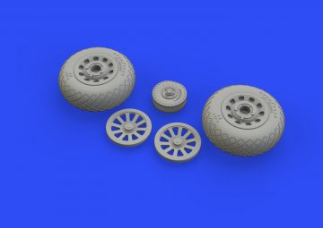P-51D Mustang - Wheels diamond tread 2 [Eduard] · EDU 648511 ·  Eduard · 1:48