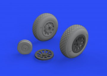 P-51D - Wheels pointed cross tread [Eduard] · EDU 648513 ·  Eduard · 1:48