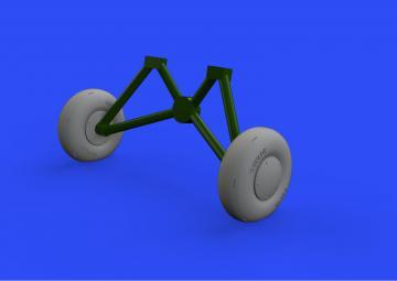 Tiger Moth - Wheels [Airfix] · EDU 648556 ·  Eduard · 1:48