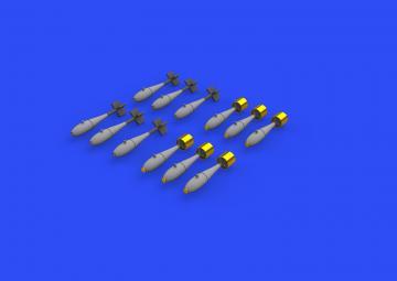 BDU-33 & Mk.76 bombs · EDU 648567 ·  Eduard · 1:48