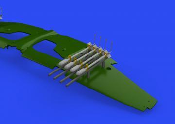 RP-3 60lb - Rockets for Tempest Mk.II [Eduard] · EDU 648641 ·  Eduard · 1:48