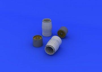 MIG-29A Fulcrum (Izdelye 9-12) - Exhaust nozzles [Trumpeter] · EDU 672091 ·  Eduard · 1:72