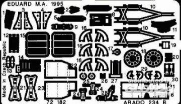 Arado Ar 234 B 2 · EDU 72182 ·  Eduard · 1:72