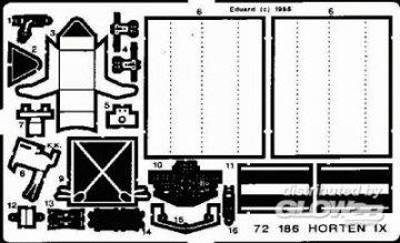 Horten IX/GO 229 · EDU 72186 ·  Eduard · 1:72