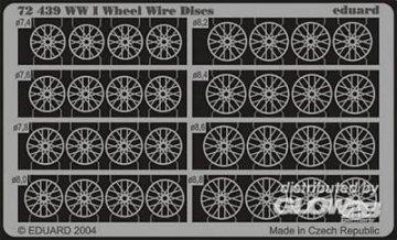 WWI Wheel Wire Discs · EDU 72439 ·  Eduard · 1:72