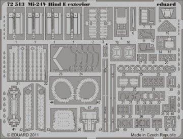 Mi-24V Hind E - Exterior [Zvezda] · EDU 72513 ·  Eduard · 1:72