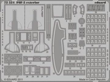 F6F-5 - Exterior [Eduard] · EDU 72524 ·  Eduard · 1:72
