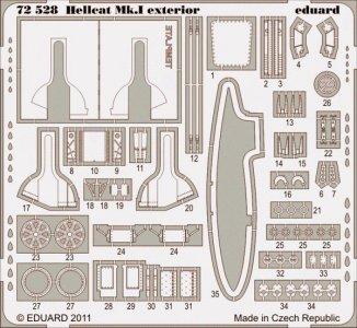 Hellcat Mk.I - Exterior [Eduard] · EDU 72528 ·  Eduard · 1:72